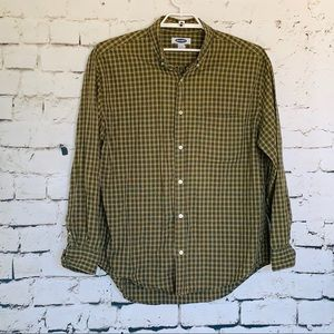Old Navy Shirts - Men's Old Navy Green/White Plaid Shirt Size Large